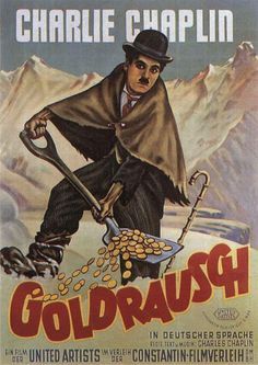THE GOLD RUSH German Version Poster.