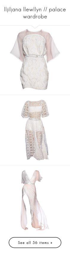 """lljiljana llewllyn // palace wardrobe"" by a-eterno ❤ liked on Polyvore featuring edit, dresses, vestidos, edited, short dresses, elie saab, mini dress, elie saab dresses, short white dresses and white color dress"