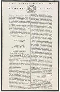 Extra-Ordinaire Utrechtse Courant van 17 mei 1787, anoniem, 1787