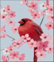 "Gallery.ru / BelleBlue - Альбом ""Кардиналы"" 123 Cross Stitch, Cross Stitching, Bird, Gallery, Painting, Animals, Animales, Roof Rack, Animaux"