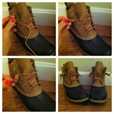 How to tie your LL Bean Boots