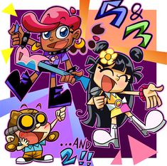 """KND is on """"HiHi Puffy Ami Yumi"""" style! is Yumi. is Ami. is very cute! Kids Next Door (C) Mr Warburton Good Cartoons, Airbrush T Shirts, Best Crossover, Cartoon Network Shows, Ojamajo Doremi, Kids Shows, Cartoon Pics, Cultura Pop, Love Pictures"""