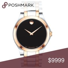 HOST PICK NIB Movado Men's Limited Edition Watch 11/3/17 Style Staples Party Host Pick! Brand New In Original Box. Movado. THE Art Of Time. Let the world know you've arrived. Black Dial. 41mm.Stainless Steel Case and Bracelet. Swiss Movement. Rose Goldtone Bezel and Band Accents. Black Iconic Museum Dial. Factory Warranty. Perfect Gift. Holiday. Christmas. Birthday. Anniversary.  Style: 0607083. Silver only Movado available in another listing. SKU: S001 Movado Accessories Watches