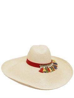 Blanca Straw Wide Brim Panama Hat bf9a3756938bc
