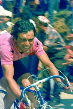 """""""Tappa"""" 17 to Boario Terme, Hinault grimaces on the climb, on a day that would be crucial to his Giro victory in 1982."""