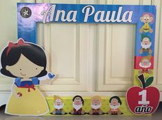 Lindo marco de Blanca Nieves para celebrar el primer añito de Ana Paula
