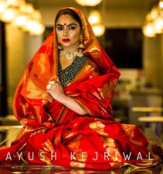Bridal Kanjiveram saree by Ayush Kejriwal For purchases email me at designerayushkejriwal@hotmail.com or what's app me on 00447840384707 We ship WORLDWIDE. Instagram - designerayushkejriwal