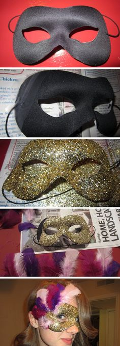 Glittered Mardi Gras Mask | Learn How To Make A Festive Mask With These 7 Easy DIY Mardi Gras Masks Tutorials by DIY Ready at http://diyready.com/7-diy-mardi-gras-masks-diy-tutorials/