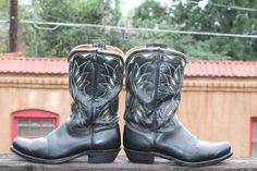 Vintage Leather ACME Short Western vibe Boots Black by Taite, $55.00