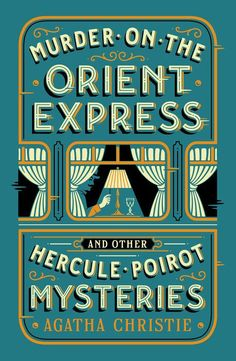 Title: Murder on the Orient Express and Other Hercule Poirot Mysteries (Barnes & Noble Collectible Editions), Author: Agatha Christie Best Book Covers, Vintage Book Covers, Beautiful Book Covers, Book Cover Art, Design Poster, Book Design, Best Book Cover Design, Design Design, Design Editorial