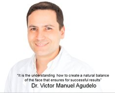 """'It is the understanding how to create a natural balance of the face that ensures for successful results""""  Doctor Victor Manuel Agudelo Cali Colombia"""