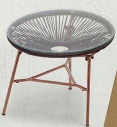 Copper leg table