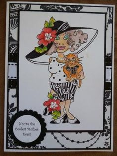 4/26/2012; Helen at 'Handcrafted by Helen' blog using Loralie Design Art Stamps