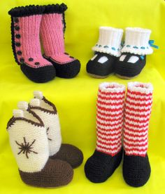 baby booty knitting patterns  I want the cowboy boot pattern for our next baby!  They are adorable!!!!