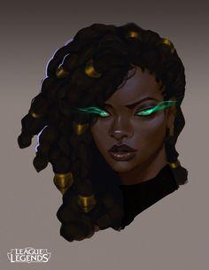 ArtStation - Senna, the Redeemer - Concept Work, Justin Albers Black Love Art, Black Girl Art, Black Girl Magic, Art Girl, Character Inspiration, Character Art, Character Design, Character Ideas, Character Types