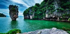 Khao Phing Kan  Nicknamed James Bond Island, this Thai jewel was virtually unheard of before it was featured in the movie The Man with the Golden Gun. The best way to get there is by speedboat from Phuket. And once you're there, you may never want to leave.