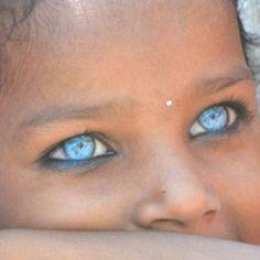 Gorgeous blue eyes...