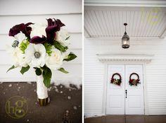 pretty white and purple bouquet