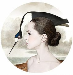 Bow Your Head £200.00 By Alexandra Gallagher   60 x 60 cms Giclee print on 100% cotton rag paper Limited Edition of 50 • Signed • Numbered