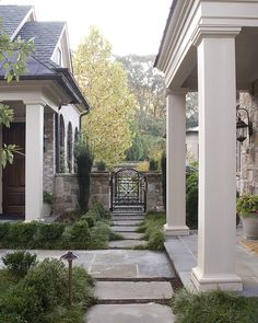 I love the gate and courtyard.
