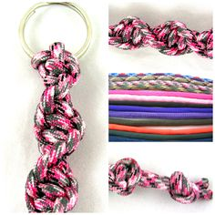 550 Paracord Survival Twisted Keychain Made to Order You pick color. Offering twisted paracord keychains made especially for you. Pick your color by noting your desired color in your order. This is the perfect gift for men, women. (not suggested for children under the age of 16)