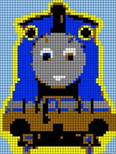 Thomas the Tank Engine perler bead pattern