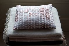 Natural linen cushion cover by Nancy Straughan ($45)