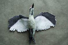Woodpecker birds, Softsculpture, Textill art, sculpture,.