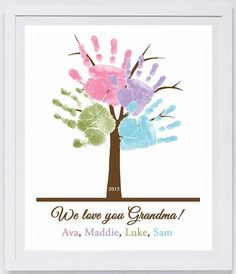 Family Tree Handprint Wall Art 11 x 14 801_pap