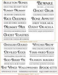 unique halloween names