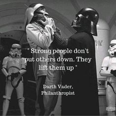 When Darth Vader is more inspirational than you