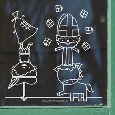 Saint Nicolas, Chalk Markers, Window Art, Reno, Creative Kids, Chalkboard, Crafts For Kids, December, Doodles