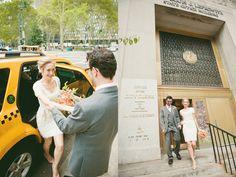 chic manhattan courthouse wedding