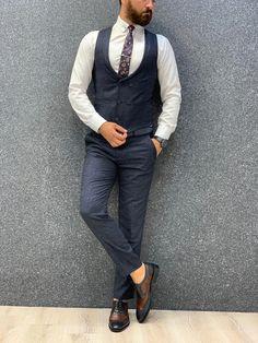 Marc Suit Vest, Vest Jacket, Navy Slim Fit Suit, Navy Vest, Winter Collection, Swagg, Navy Blue, Overalls, Suits