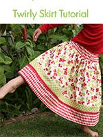 "Twirly Skirt Tutorial - Oh I like this. A little different than the ""strip"" skirts but still uses coordinating fabric fun - 7 Layer Studio"
