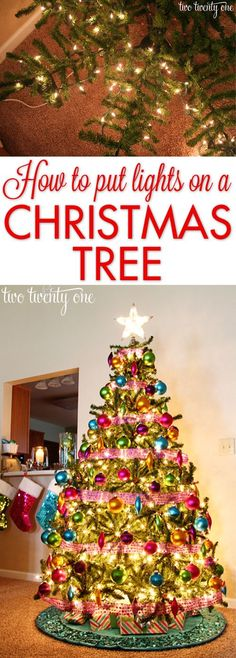 Say no to the lasso method!  How to evenly put lights on a Christmas tree so it glows!