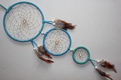 BERGKRISTALL - Traumfänger - Dreamcatcher handgefertigt und ein UNIKAT    Dieser Traumgänger besteht aus 3 Ringen.