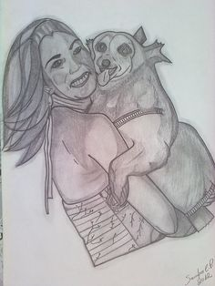 My friend Maíra and her dog, Laura!