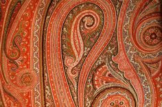 A nice paisley in shades of red and orange.
