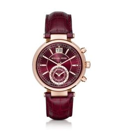 865b303415f Sawyer Rose Gold-Tone and Embossed-Leather Watch
