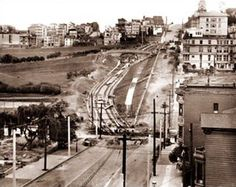"Laying the tracks for the ""J"" Church through Dolores Park in San Francisco..."