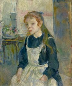 BERTHE MORISOT Young Girl with an Apron, 1891