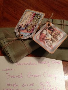 Lavender Honey Soap with green clay by eleneetha on Etsy, $5.00