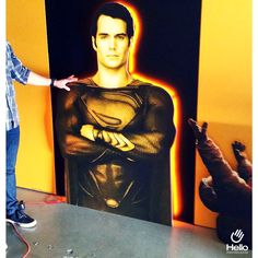 Create beautiful decorations for your events with digital printing! #CNCRouting #CNC #Routing #Decor #Cardboard #Superman #DigitalPrinting