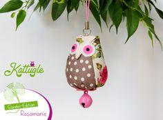 """Eule """"Hedwig"""" (nr. 045) – Ein Eulchen der besonderen Art. Akzente in rosa, pink & rosarot zeichnen die Sonderedition aus. Es herrscht """"Rosamanie""""!"""