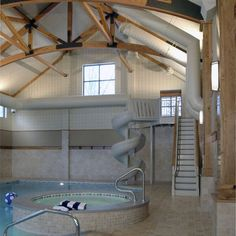 Indoor Water Slide Design, Pictures, Remodel, Decor and Ideas