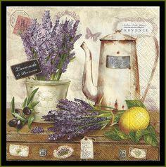 Lavanda De Provence cuatro tejido Decoupage por stampsandmore