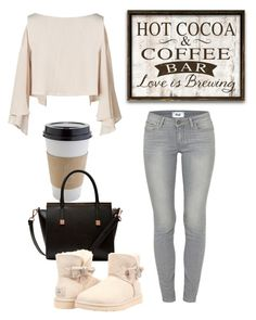 """Coffee House"" by oievie ❤ liked on Polyvore featuring Paige Denim, OUTRAGE, Ted Baker and UGG Australia"