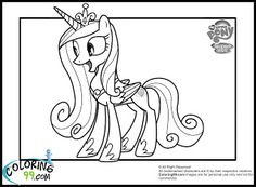 Princess Cadence Coloring Pages coloring Pages Pinterest