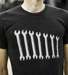 Grey Wrenches T-Shirt   Men's T-Shirts   Garbella   Scoutmob Shoppe   Product Detail